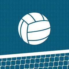 Flat volleyball background. Vector illustration