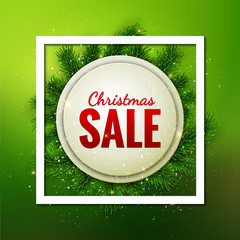 Merry Christmas Sale discount vector card design