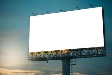 Blank billboard ready for new advertisement,Blank billboard at blue sky background