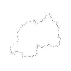 Rwanda map outline