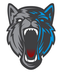 Wolf Logo / Dog Head logotype. Cartoon character vector. Great for sports logos & team mascots.