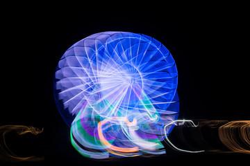 Blurred giant wheel, ferris at night