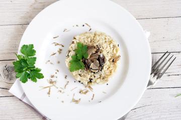 risotto con tartufo nero