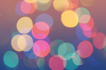 Bokeh lights background. Colorful bokeh circles defocused background. Holiday bokeh. Photo can be used for web design, surface textures, wallpapers, printed products and other.
