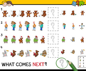 educational pattern activity game for kids