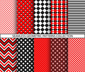 Seamless geometric patterns collection