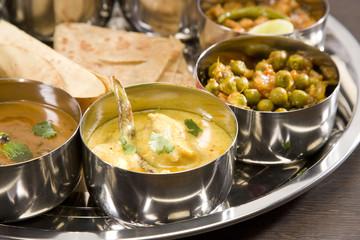 Vegetable Pulao with Kadi, Indian Dish