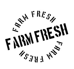 Farm Fresh rubber stamp. Grunge design with dust scratches. Effects can be easily removed for a clean, crisp look. Color is easily changed.