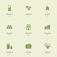 Set Of 9 Editable Journey Icons. Includes Symbols Such As Luggage, Rest Time, Barrier And More. Can Be Used For Web, Mobile, UI And Infographic Design.