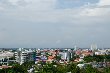 The Cloud on the sky above Chiangmai CIty and the logistic.