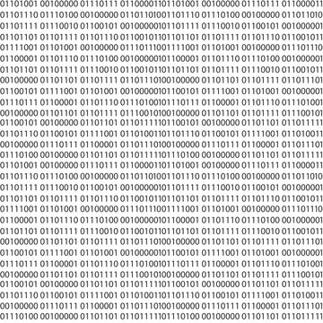 Binary code vector seamless pattern. Zero one computer code background