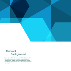 Geometric abstract blue background Template for cover, flyers, banners and posters.