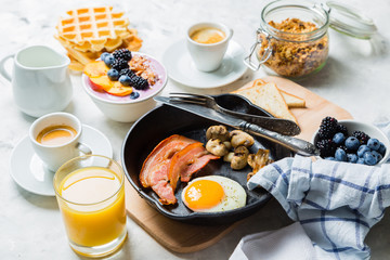 Breakfast and lunch concept - traditional food