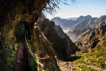 Highest peak trail in Madeira, Portugal