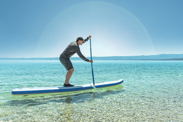 Stand up paddle rowing