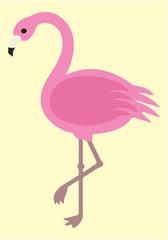 Fashion animal illustration. Flamingo