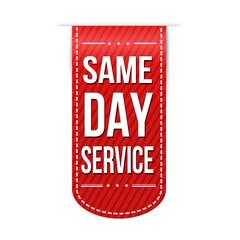 Same day service banner design