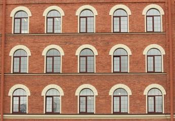 Facade house with windows