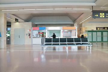 Customer service desks at an airport