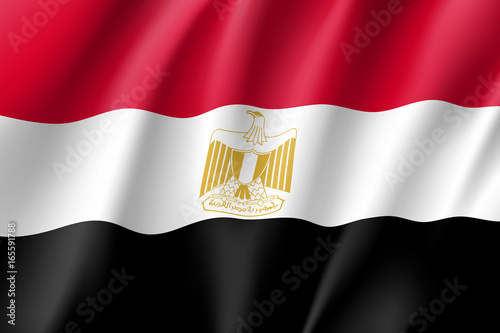 Egypt Flag National Patriotic Symbol In Official Country Colors