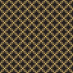 Vintage gold arabic mosaic tile art pattern