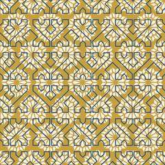 Arab mosaic tile vintage seamless pattern