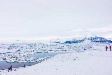 Icebergs in Glacier Lagoon, Iceland .