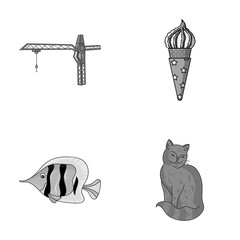 tail, Animal and other monochrome icon in cartoon style. Desert, rock icons in set collection.