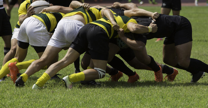Playing with crowds during a rugby match