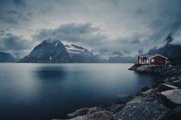 Obraz Fischerhütte - fototapety do salonu