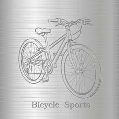 Engraving of a bicycle