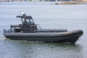 Motor boat in Victoria harbor