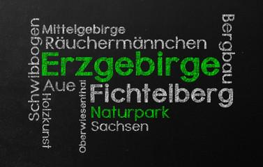Erzgebirge Schlagwort wolke Schlagwortwolke cloud