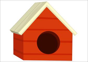 cartoon vector isolated dog house - illustration for children