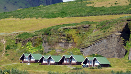 Einsames Haus In Weiter Fjord Landschaft Von Island