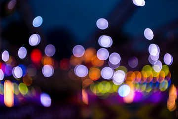 Abstract colorful bokeh defocused background