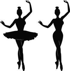 Woman Ballet Dancer silhouette