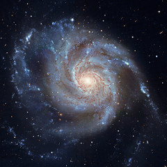 Pinwheel Galaxy Messier 101, M101 in the constellation Ursa Major.