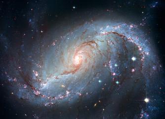 Stellar Nursery NGC 1672. Spiral galaxy in the constellation Dorado.
