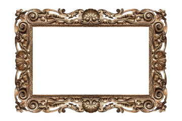 Old golden frame.