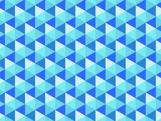 パターン ヘキサゴン ブルー
