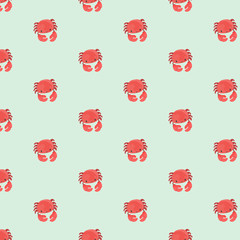 Seamless pattern with crab.