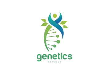 Genetics DNA Biology Logo Template Design Vector, Emblem, Design Concept, Creative Symbol, Icon