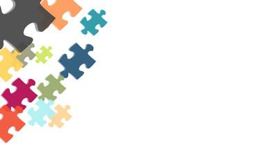 Hintergrund aus bunten Puzzleteilen