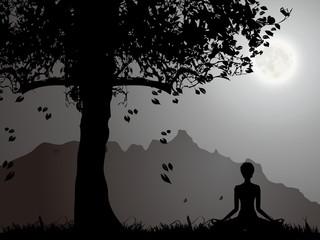 A Woman Under The Moonlight, Meditation