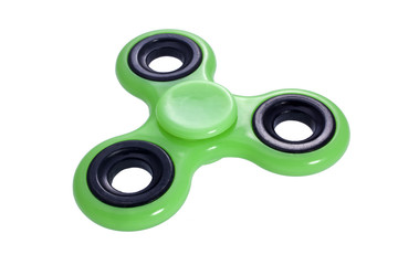 Fidget Spinner grün isoliert