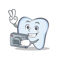 Photography tooth character cartoon style