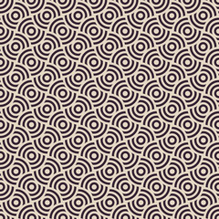 Vector seamless pattern. vintage Modern stylish texture. Repeating geometric tiles. Concentric circles