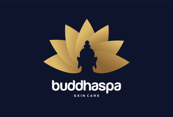 Luxury Buddha Spa Logo Template Design Vector, Emblem, Design Concept, Creative Symbol, Icon