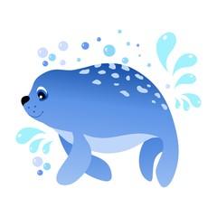 Marine seal.Vector illustration